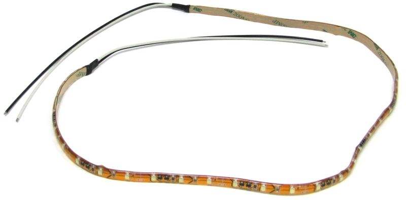 "LED WHT STRIP LGT 24""LD WIRES ONE END"