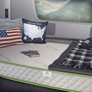 Truck and RV Luxury Deluxe 8in. Firm Memory Foam Tight Top Twin Mattress - 79 in. L x 35 in. W
