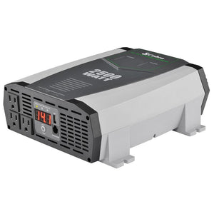 Cobra CPI2590 Portable Power Inverter – 2500 Watt Car Charger, 2 Grounded AC Outlets, 12 Volt 2.4 Amp USB Port