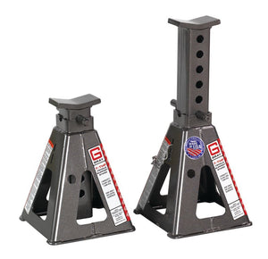 "30,870 lb Capacity Per Pair Vehicle Support Stands - 12"" to 20"""