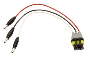 LED 3-WIRE PLG MLDD AMP W/.180 BLTS