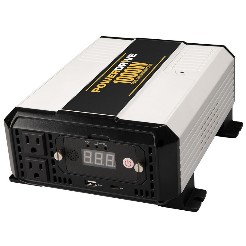 PowerDrive's 1000-Watt Pure Sine Wave Power Inverter Provides Clean Continuous Power for Sensitive Electronics