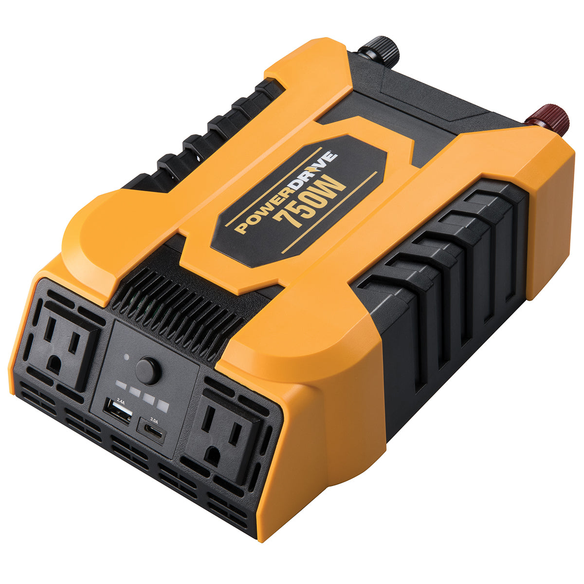 750 Watt Power Inverter with 2 AC, USB 2.4A and USB-C(TM) 3.0A Ports