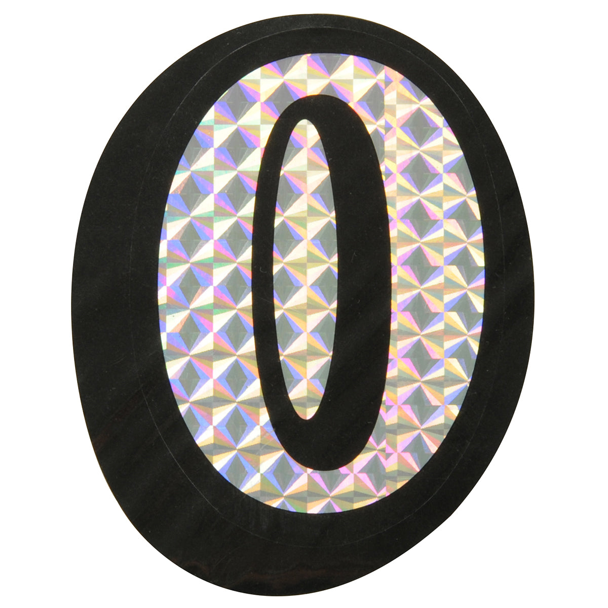 """0/O"" Prism Style Adhesive Number/Letter"