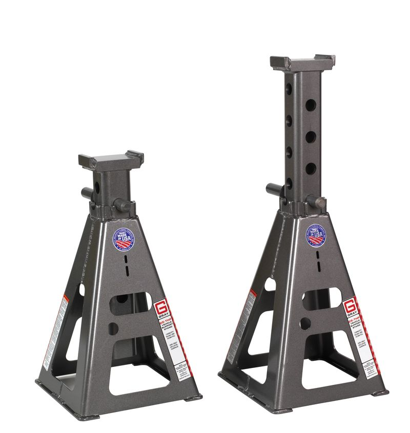 "100,000 lb Capacity Per Pair Vehicle Support Stands - 20"" to 32"""
