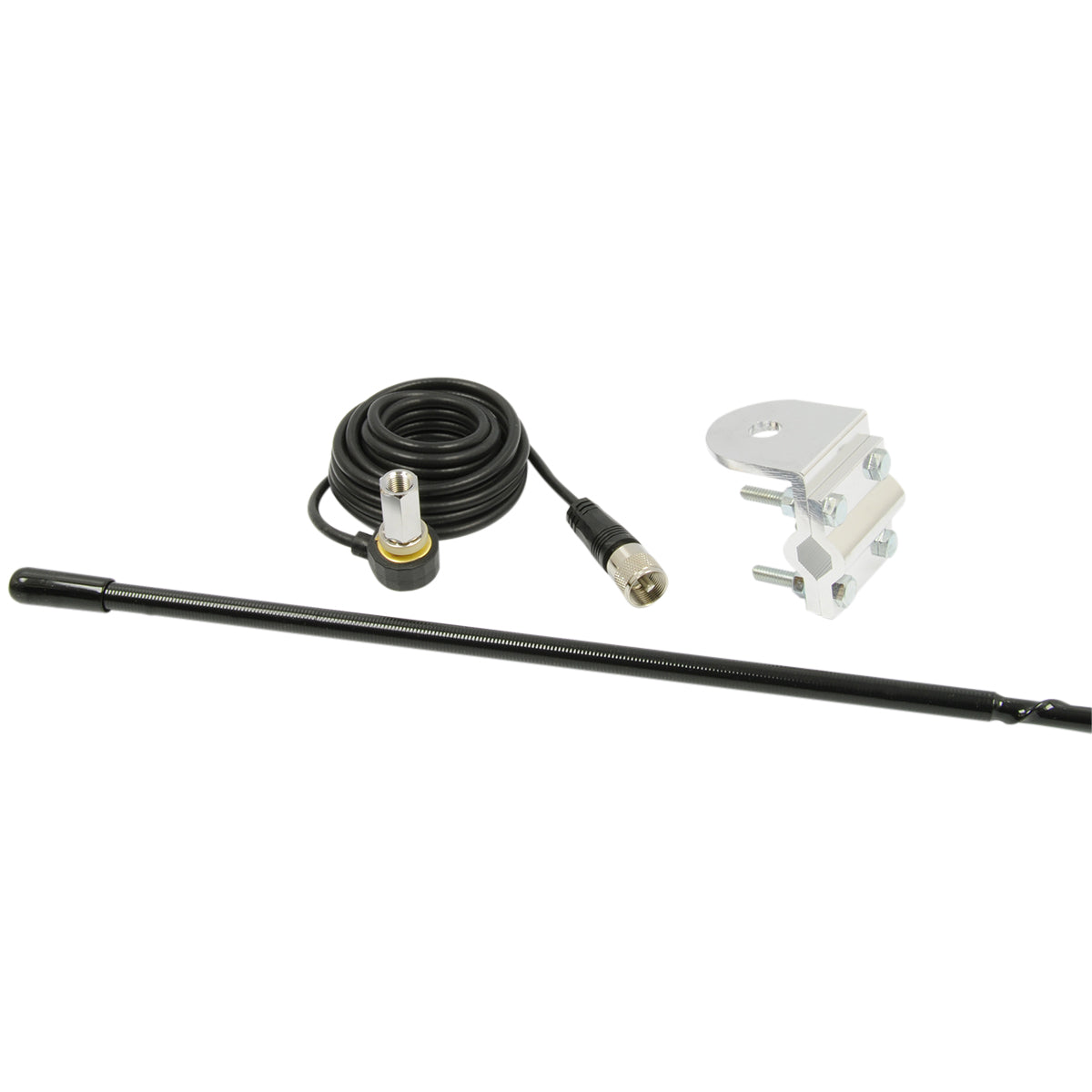 4' Platinum Series Single Mirror Mount CB Antenna Kit, 1000W Black