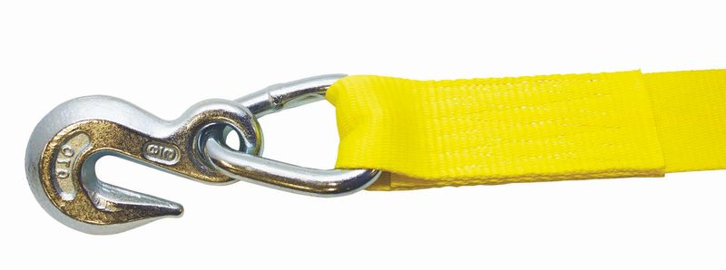 "RATCHET STRAP 2""X27' WITH #416 GRAB HOOK ASSEMBLY - 27FT"