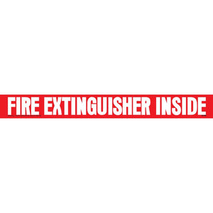 """Fire Extinguisher Inside"" Decal Transport Safety Sign"