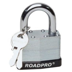 "50mm Laminated Steel Padlock with Bumper Guard, 1.25"" Shackle"