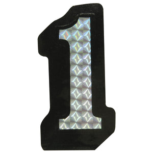 """1"" Prism Style Adhesive Number"