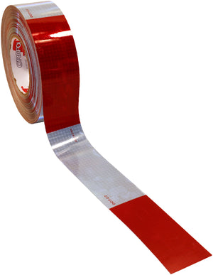 "CONSP TAPE RD/WHT 6/6 1,000 CP 150'L 2"" V82"
