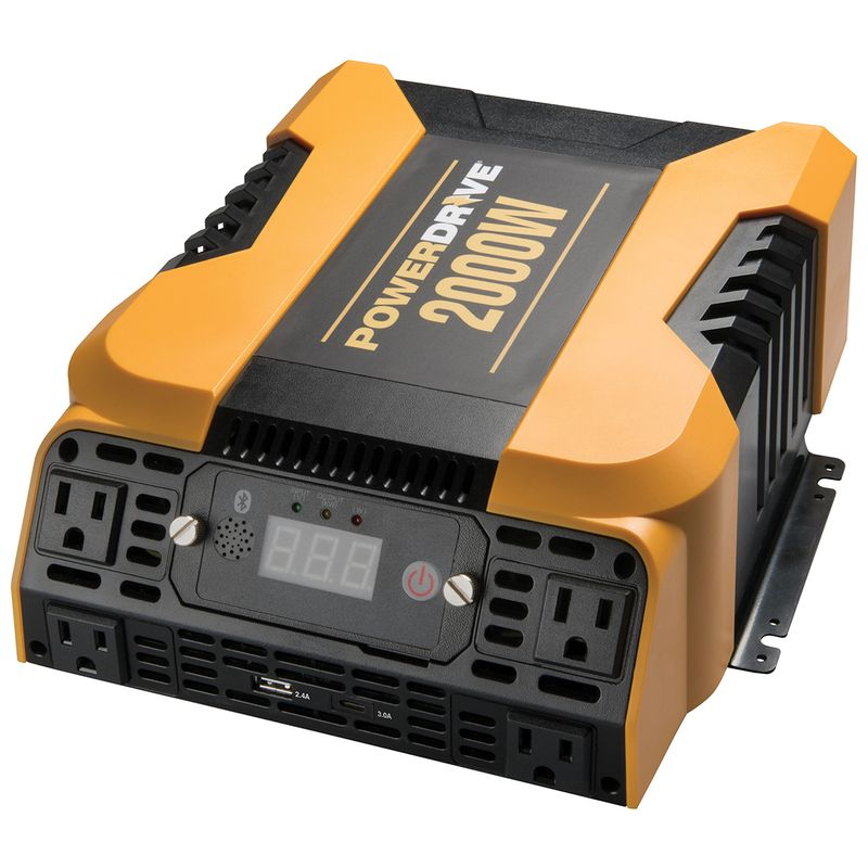 2000 Watt Bluetooth® Power Inverter with 4 AC, 2 USB and APP Interface