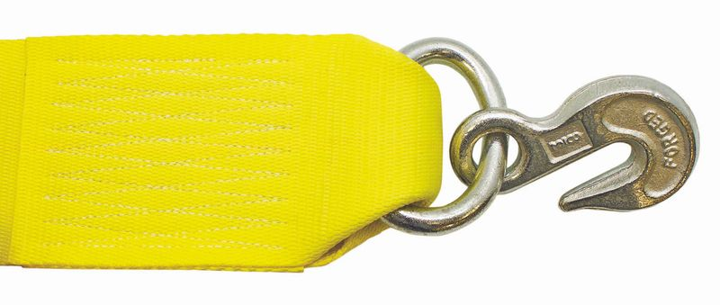 "4"" WINCH STRAP WITH #416 GRAB HOOK ASSEMBLY - 27FT"