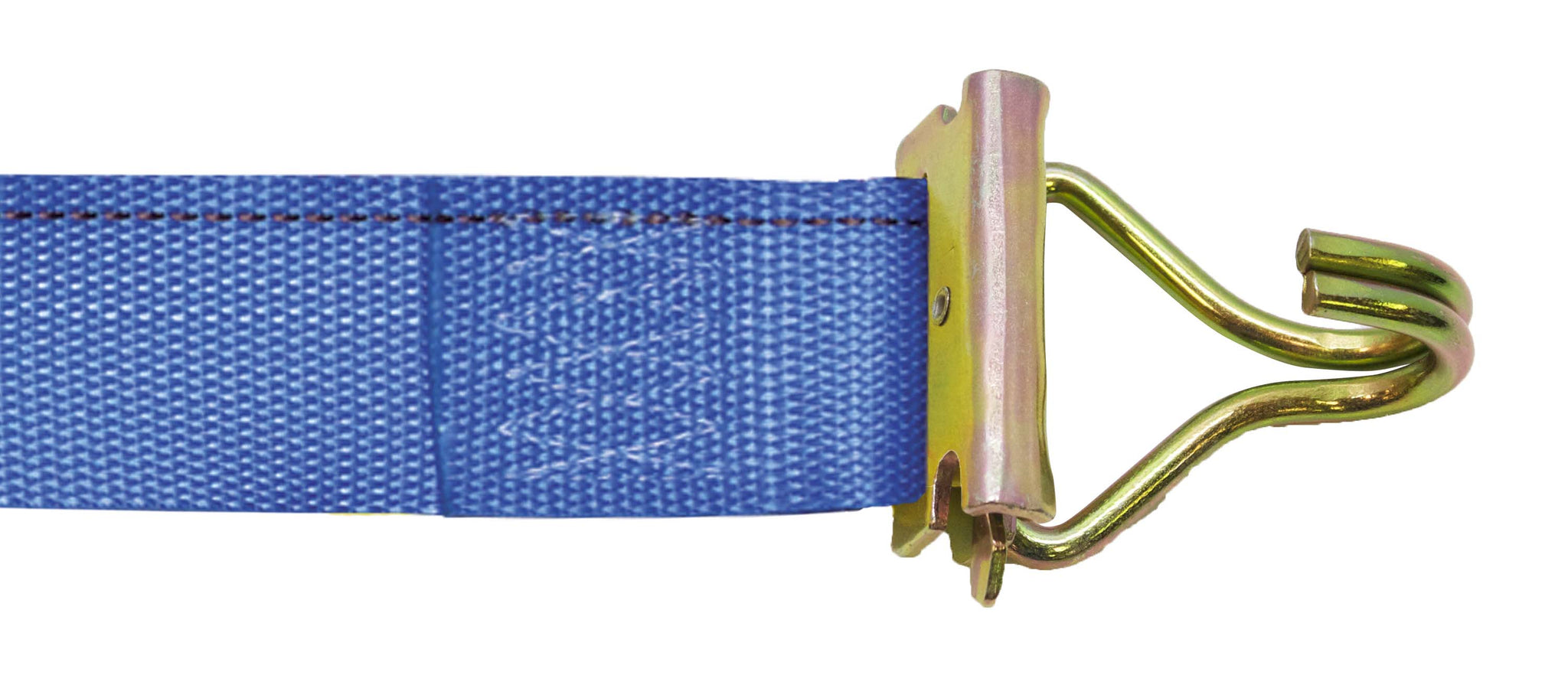 "CAM BUCKLE STRAP 2""X20' WITH E-FITTINGS & F WIRE HOOKS"