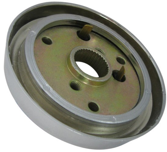 Steering Wheel Mounting Hub - Chrome - Kenworth