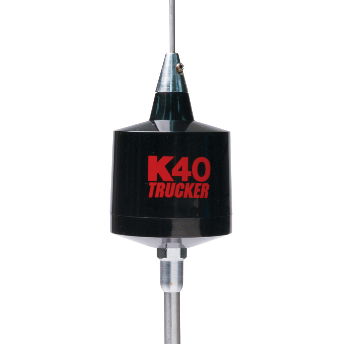 "49"" Trucker Center Load 3500 Watt CB Antenna, Black with Red K40 Logo"