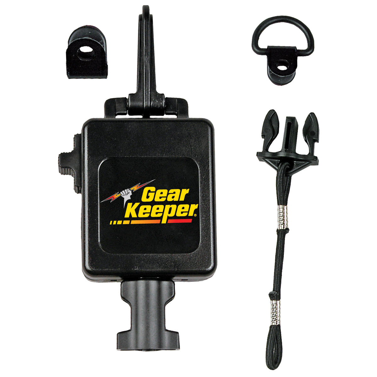 GearKeeper® Heavy-Duty Retractable CB Mic Holder with Heavy-Duty Snap Clip