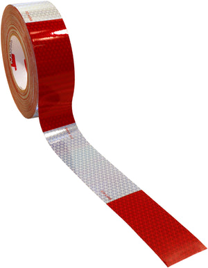 "CONSP TAPE RD/WHT 6/6 600 CP 150'L  2"" V92"