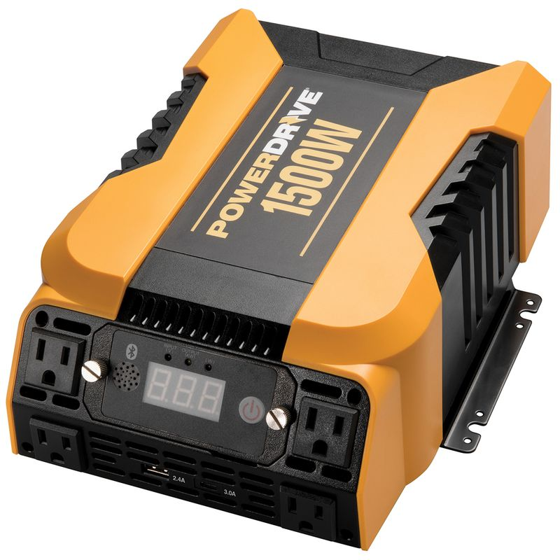 1500 Watt Bluetooth® Power Inverter with 4 AC, 2 USB and APP Interface