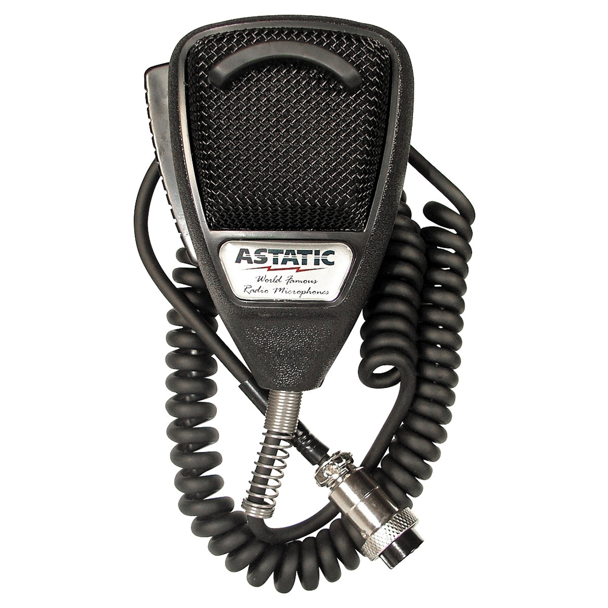 636L Noise Canceling 4-Pin CB Microphone, Black