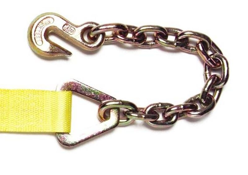 "RATCHET STRAP 2""X27' WITH #316 18"" CHAIN ANCHOR-27FT"