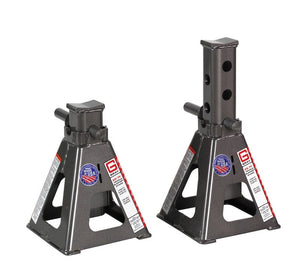 "100,000 lb Capacity Per Pair Vehicle Support Stands - 12"" to 20"""