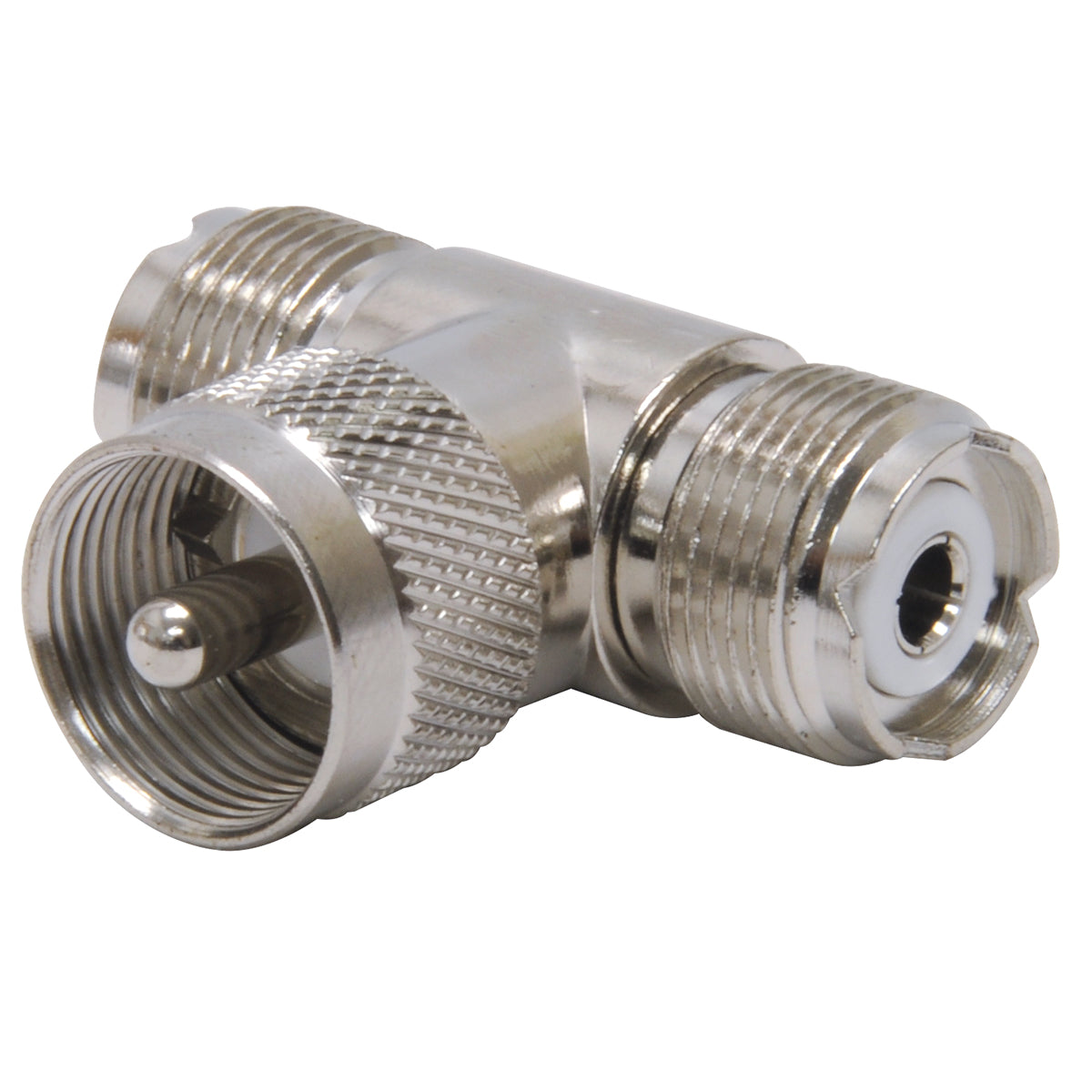 """T"" Coax PL-259 to SO-239 Connector"