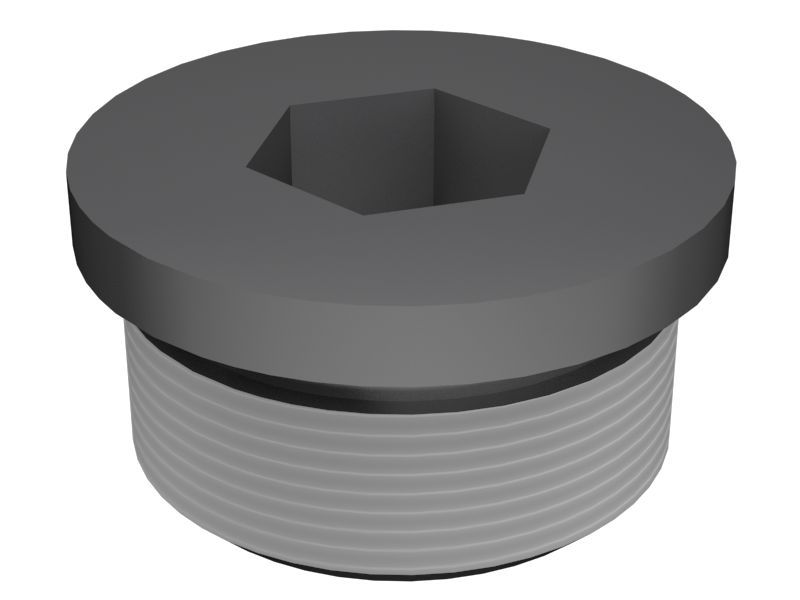 Threaded plug with O-ring Sealing