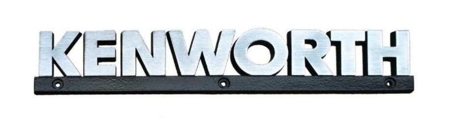 Chrome Kenworth Nameplate