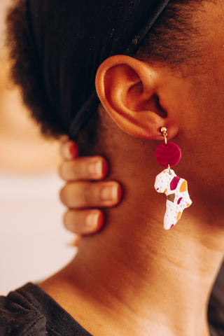 Awuwuan Map of Africa Earrings