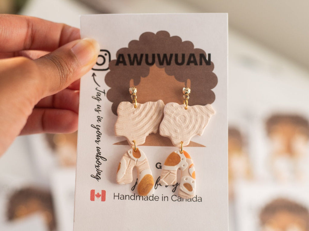 Nigeria shape lightweight statement earring ,beige and multicolored earring, arch earring, Africa inspired