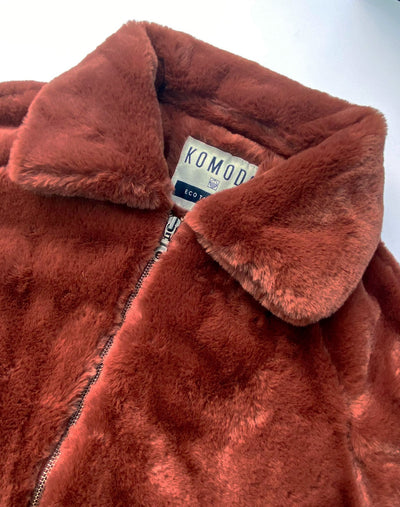 SNOW YETI Bio Fell PET Jacke Rot