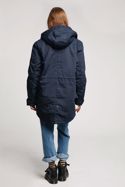 WEDNESDAY Recycled PET Parka Dunkelblau