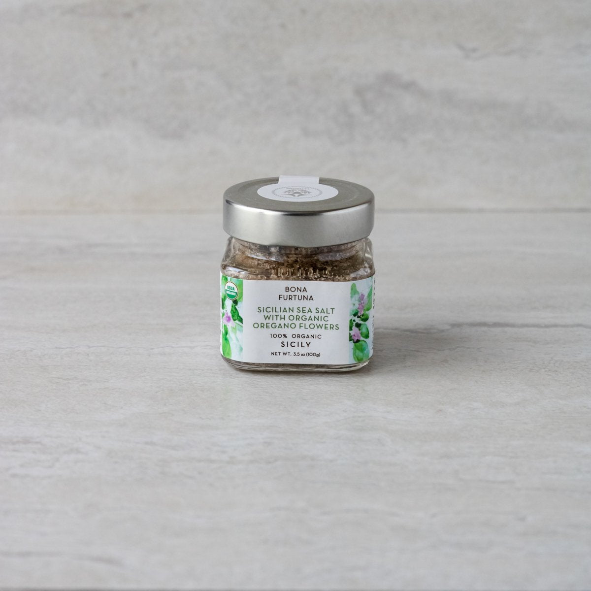 Sicilian Sea Salt with Organic Oregano Flowers