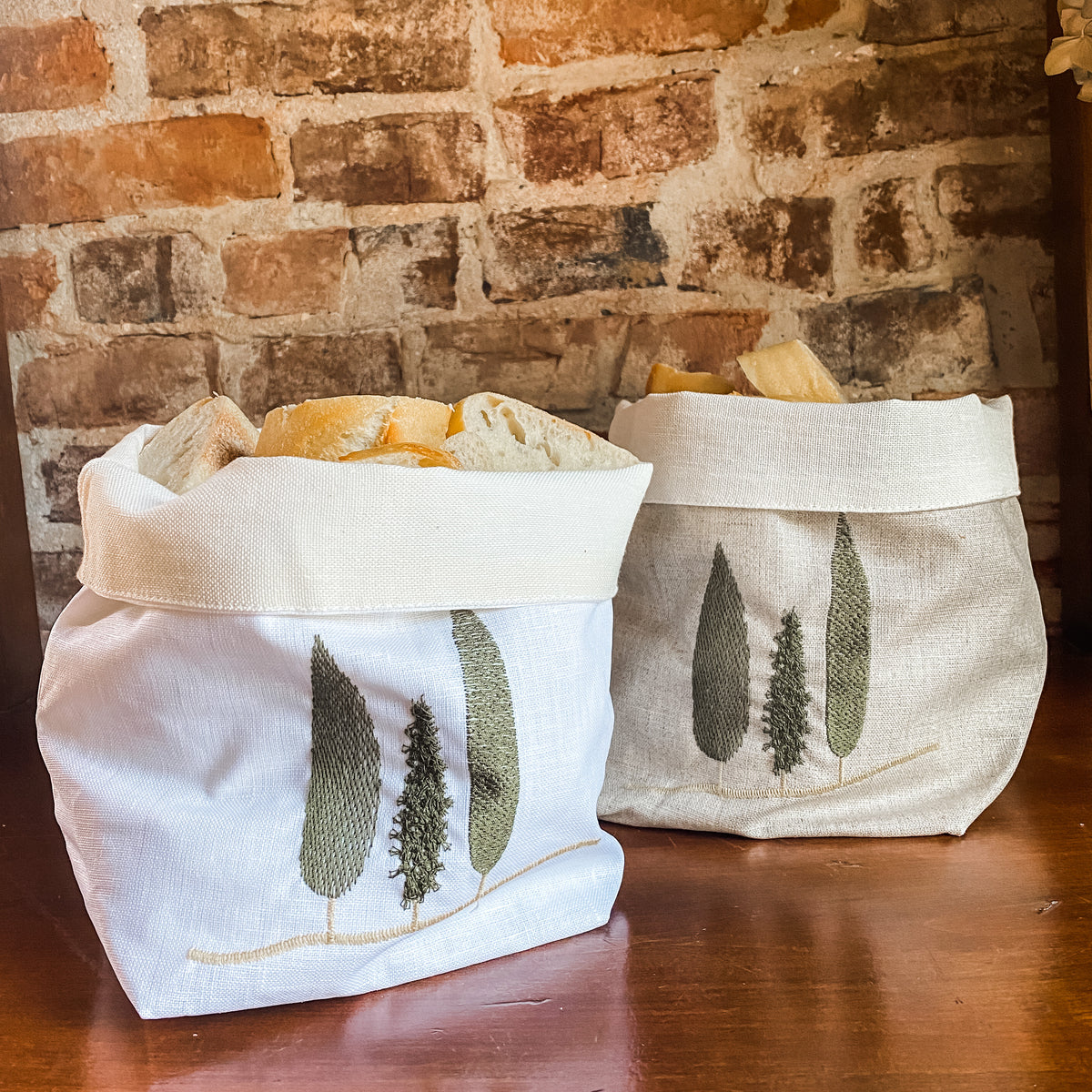 Waxed Linen Bread Bags