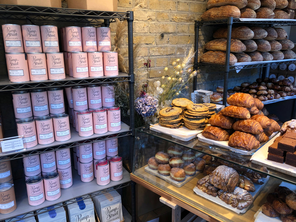 01ebd9cac399 Baked goods and chocolate side-by-side at Pump Street s pop-up on Redchurch  Street