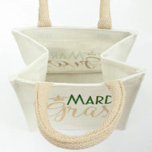Load image into Gallery viewer, Mardi Gras Petite Tote in White