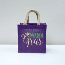 Load image into Gallery viewer, Mardi Gras Petite Tote in Purple