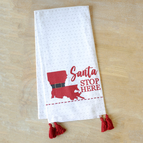 Louisiana Santa Hand Towel