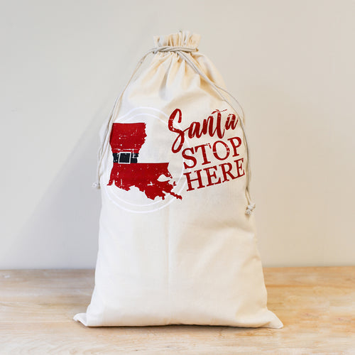 Louisiana Drawstring Santa Gift Sack