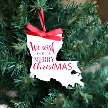 Load image into Gallery viewer, Louisiana Merry Christmas Ornament