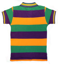Load image into Gallery viewer, Mardi Gras Polo Short Sleeve Shirt with Crown Logo - Toddler/Child