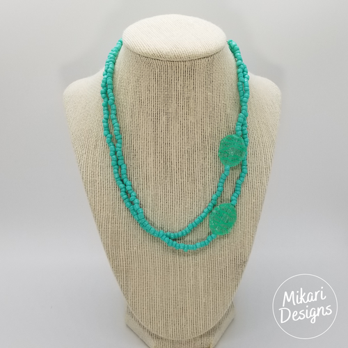 Calm Waters Seafoam Green Necklace