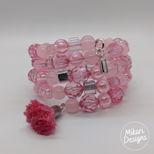 Load image into Gallery viewer, Party Pink Memory Wire Bracelet