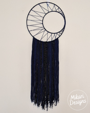 Load image into Gallery viewer, Midnight Moon Wall Yarn Tapestry