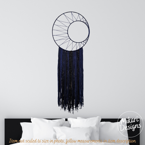 Midnight Moon Wall Yarn Tapestry