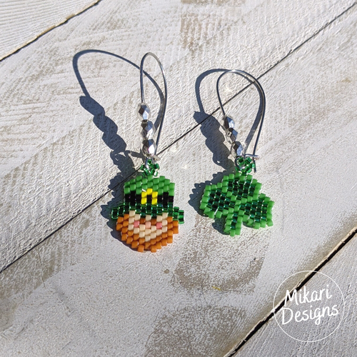 Shamrock and Leprechaun St Patrick's Day Earrings