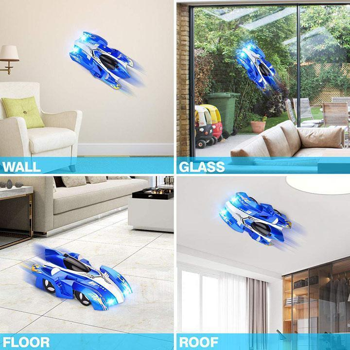 Wall Climbing RC Car - 360 Rotating Remote Control Antigravity Toy