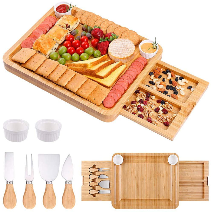 MOSONIC Bamboo Cheese Board 13 x 16 Inch