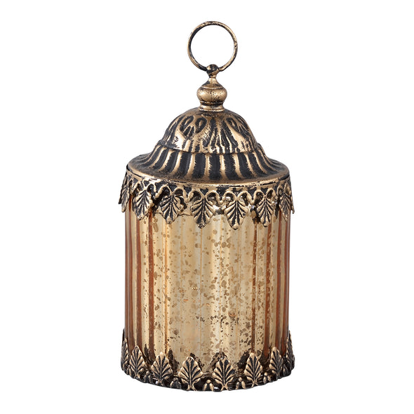 Estee Glass lantern LED ribbed round right
